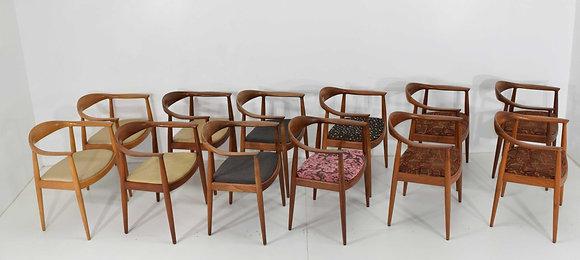 Hans Wegner Round Chairs - we have 8