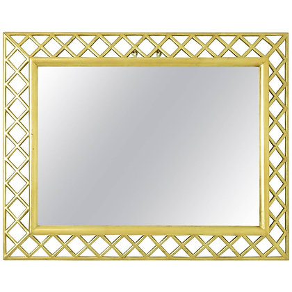 Italian Giltwood Lattice Frame Mirror