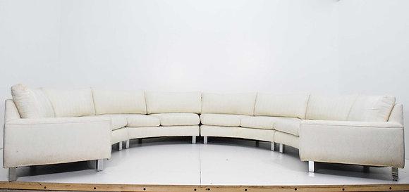 Large Milo Baughman Four Section Circular Sofa