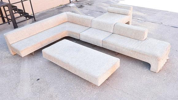 Vladimir Kagan Four Piece Omnibus Sofa