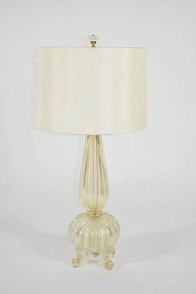 Footed Gold Murano Table Lamp