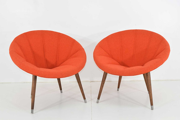 Pair of Mid Century Hoop Chairs