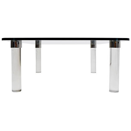 Pace Collection Coffee Table with Chrome Trim