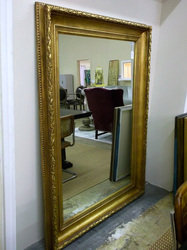 Large Gold Leaf Wood Mirror
