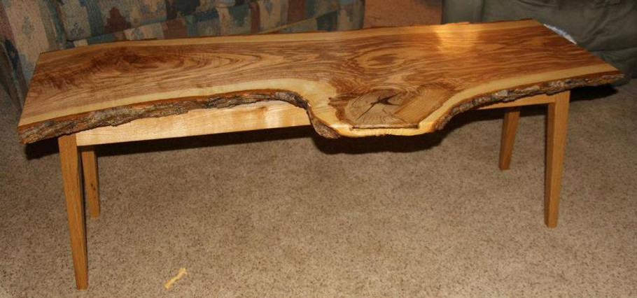 Ash slab table