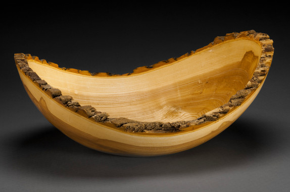Natural Bark Edge Ash bowl