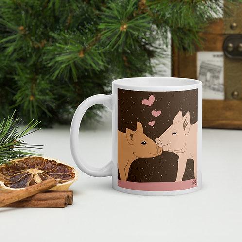 Kissing Pigs Mug