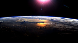 Looking Back at earth from space