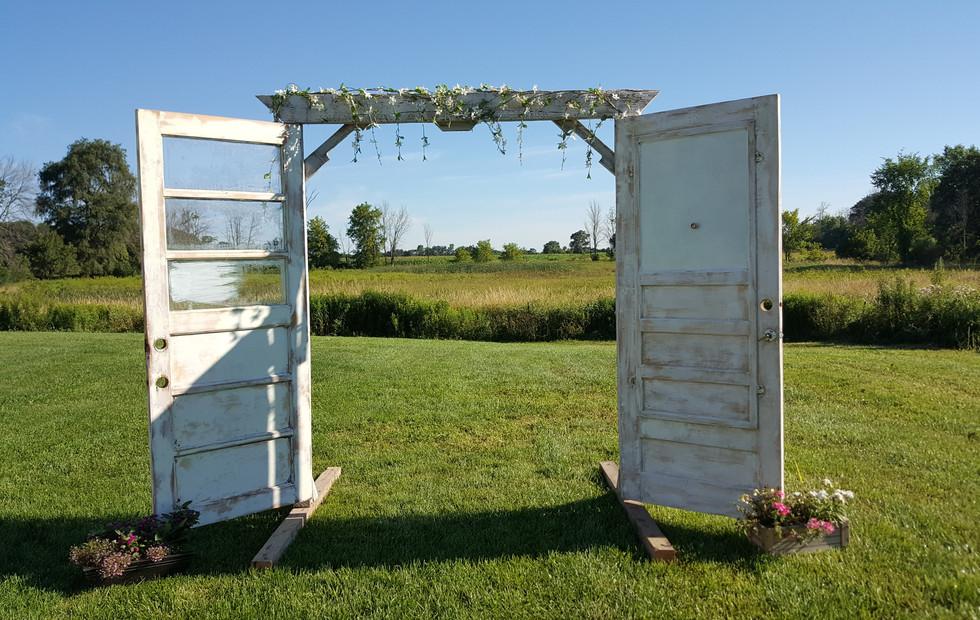 Open doors ceremony setup
