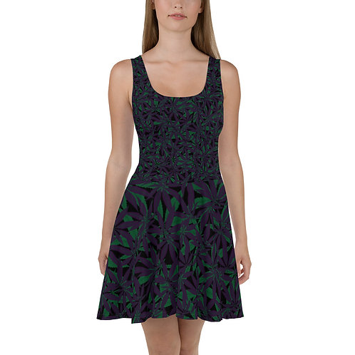 Cannabis Camo Skater Dress