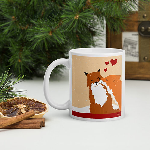 Kissing Foxes Mug