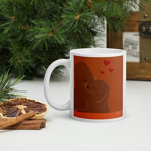 Kissing Otters Mug