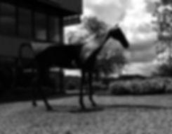 Metal Racehorse Sculpture Art Weatherbys