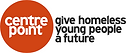 Logo for Centrepoint, who are a charity giving young homeless people a future.