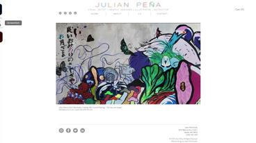 Julian Peña Studio Web Design