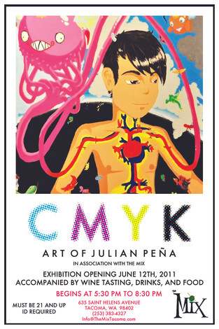 CMYK Solo Art Show Poster