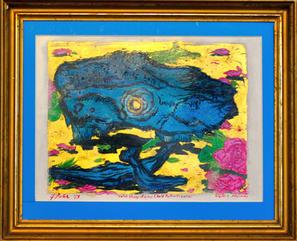 Color Study of Skull (Self-Portrait: CMYK)