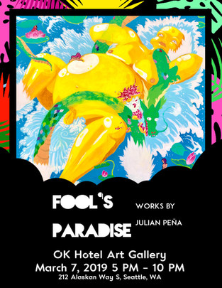 Fool's Paradise Solo Art Show Poster