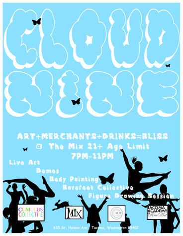 Cloud Nine Art Show Poster