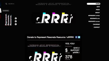 Represent Resonate Resource 501c3 Nonprofit Web Design