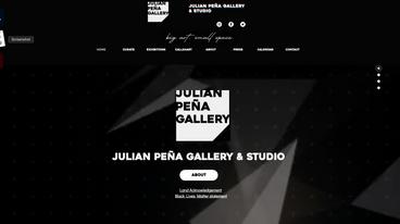 Julian Peña Gallery Web Design