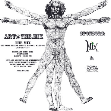 Art at the Mix Art Show Poster