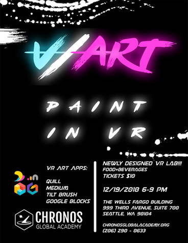 Chronos Global Academy | V/Art Event Poster