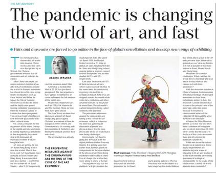 The Coronavirus is Changing the Art Market