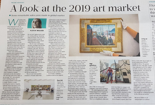 A Look at the 2019 Art Market