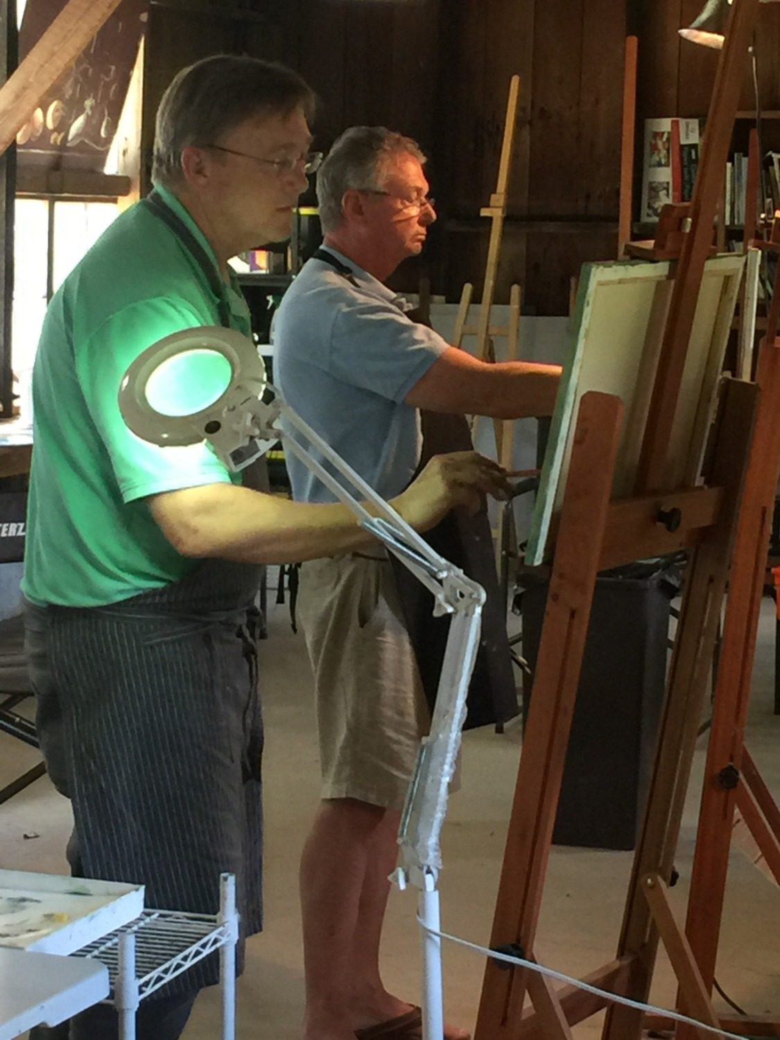 AAW Students at Their Easels