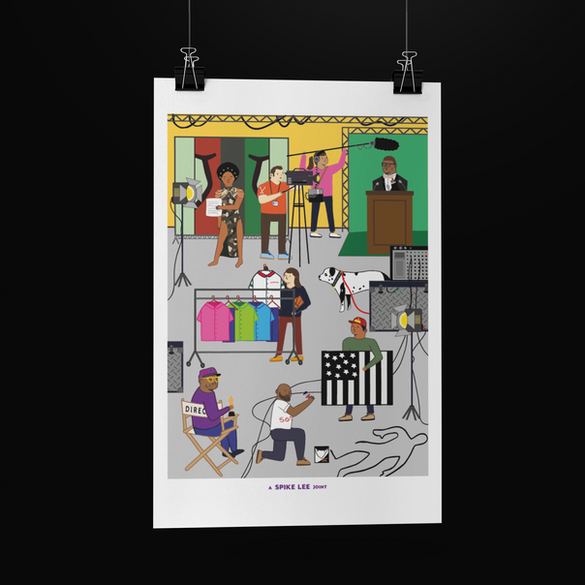 SAM HARRIS 2021- Poster Mock Up Hanging.