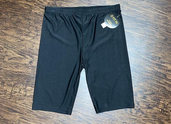 Ladies Large Black Boutique Biker Shorts