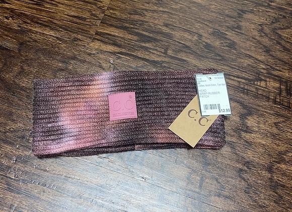 Ladies Pink Tie Dye C.C Headband