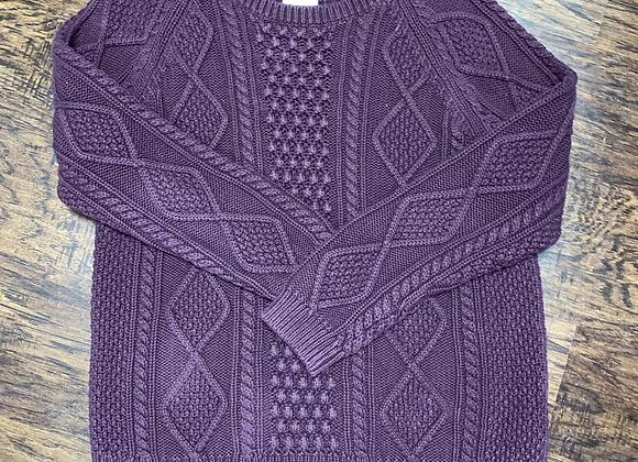 Ladies XL Purple Gap Sweater