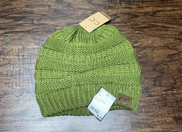 Ladies Green C.C Beanie