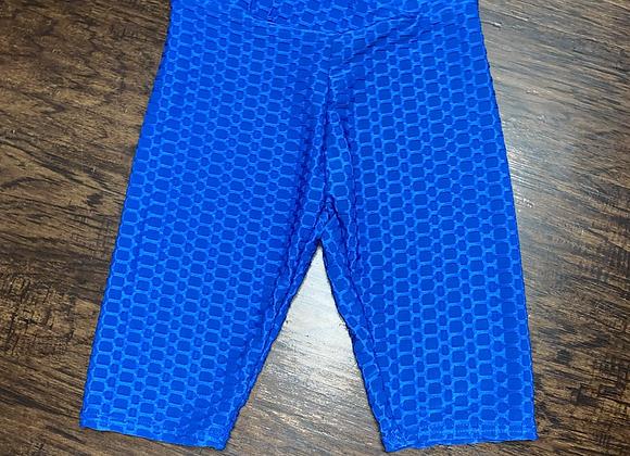 L/XL Ladies Blue Biker Shorts