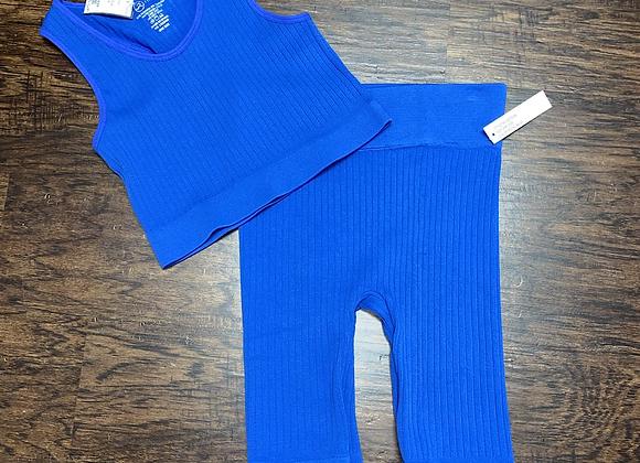 Ladies OneSize Blue Shortset