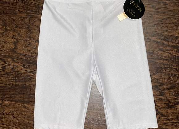 Ladies Small White Bike Shorts