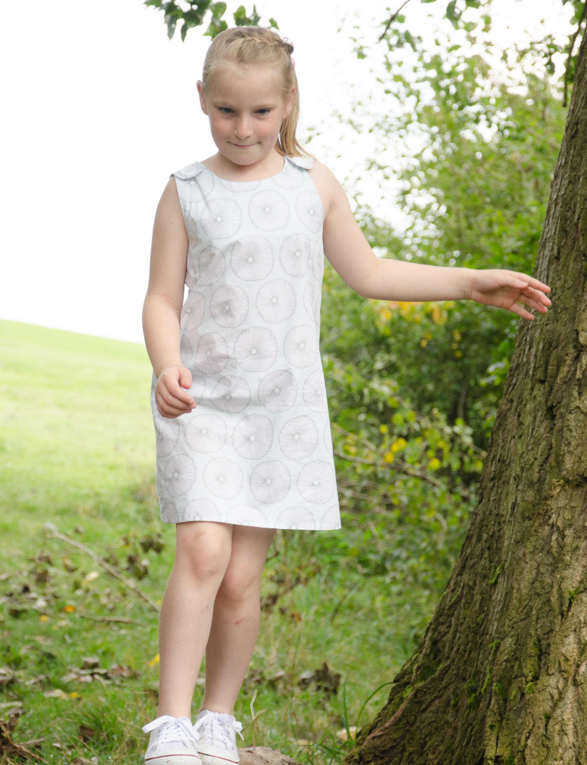 REVERSIBLE DRESS FOR CHILDREN 1 - 10 YRS