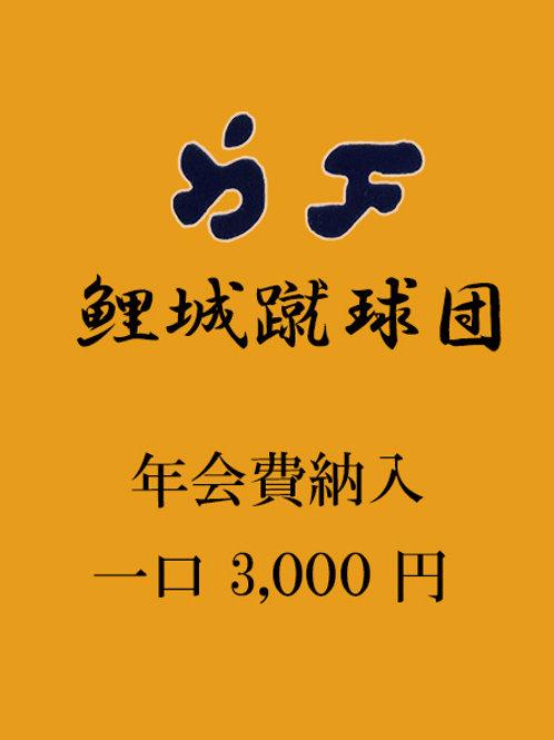年会費のお支払い(一口3000円)