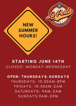 Summer Hours Announcement