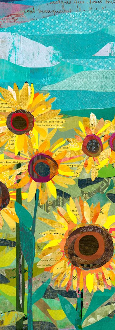 Sunflowers at Dusk
