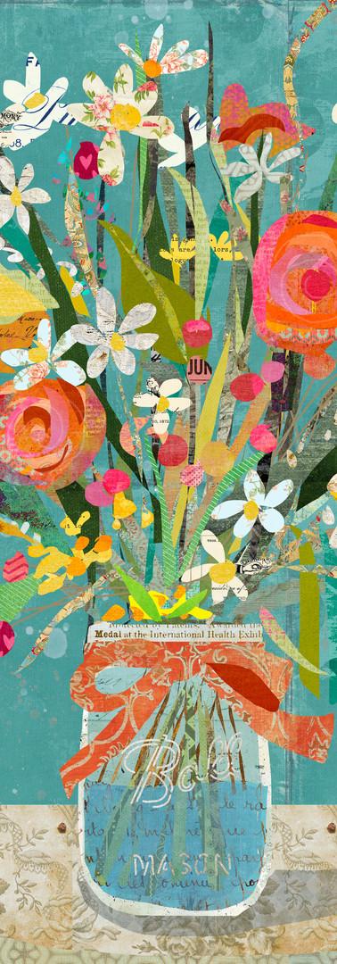 Mason Jar Wildflowers Collage