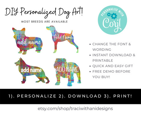DIY Personalized Rainbow Bridge Dog Prints