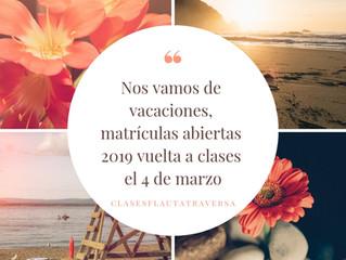 Matrículas Abiertas 2019