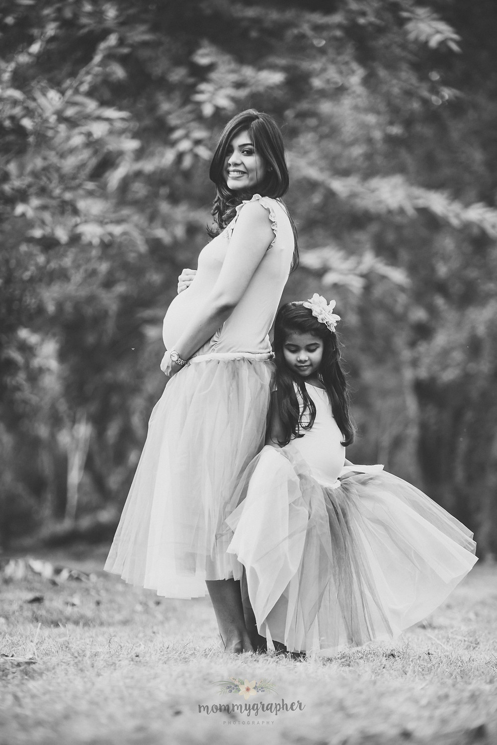Mom and Daughter Maternity Photographer