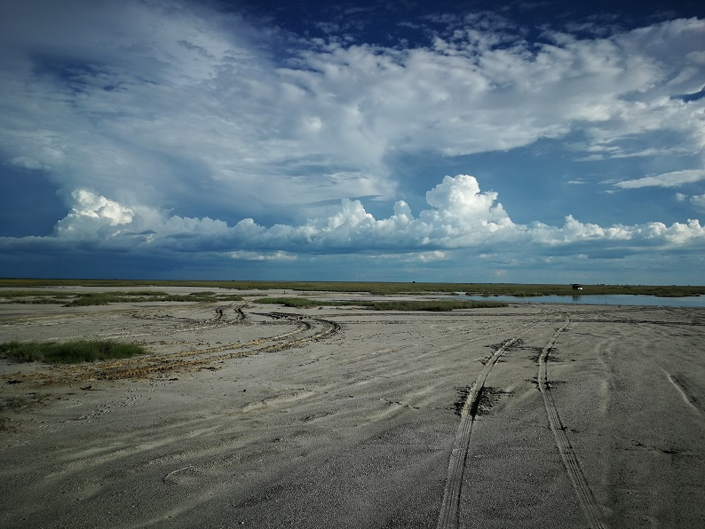 Salt Pans in dry season