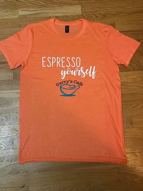 Espresso yourself T-shirt, Tangerine