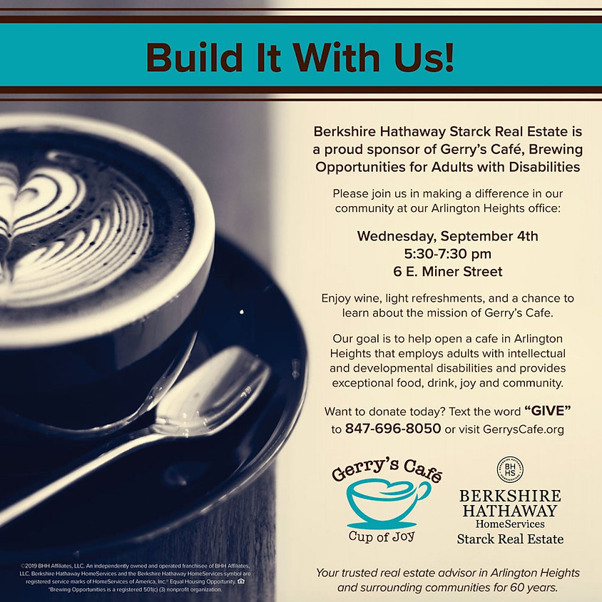Wine Reception with Berkshire Hathaway Starck for Gerry's Cafe