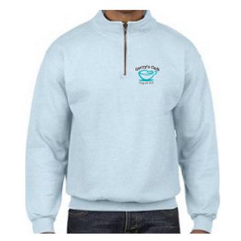 1/4 Zip Pullover Sweatshirt - chambray